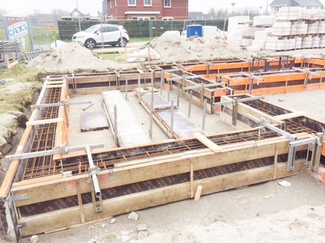 nieuwbouw vrijstaande woning bekisting